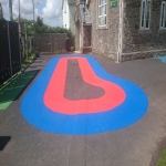 Rubber Bark Running Track in Abertillery/Abertyleri 8
