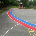 Rubber Bark Running Track in Ackton 9