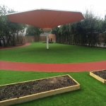Rubber Bark Running Track in Askern 2