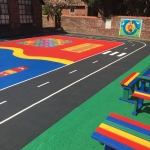 Rhino Paving for Schools Daily Mile in Ashfold Crossways 1