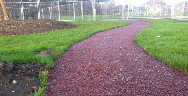 Rubber Mulch Track in Askern